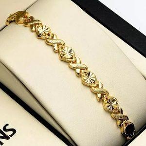 Bracelet Yellow Gold Filled xoxo Chain Braclet